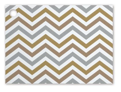 Metallic Chevron Gift Tags, 3 3/4 x 2 3/4""
