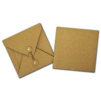 "Kraft Gift Card Pockets, 4 3/8 x 4 3/8"""