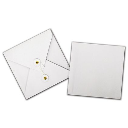 "White Kraft Gift Card Pockets, 4 3/8 x 4 3/8"""