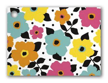 Polka Dot Petals Gift Cards, 3 3/4 x 2 3/4