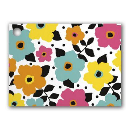 """Polka Dot Petals Gift Tags, 3 3/4 x 2 3/4"""""""