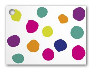 Painted Dots & Stripes Gift Tags, 3 3/4 x 2 3/4