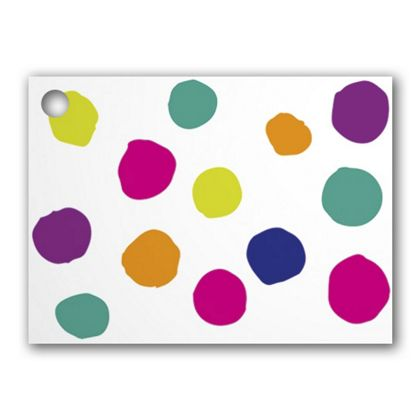 Painted Dots & Stripes Gift Tags, 3 3/4 x 2 3/4""