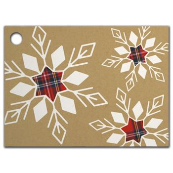 Plaid Snowflakes Gift Tags, 3 3/4 x 2 3/4