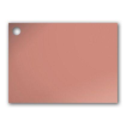 """Metallic Rose Gold Gift Tags, 3 3/4 x 2 3/4"""""""