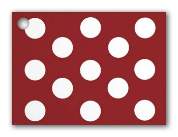 Red & White Dots Gift Tags, 3 3/4 x 2 3/4