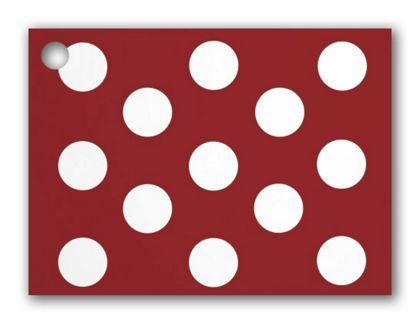 """Red & White Dots Gift Tags, 3 3/4 x 2 3/4"""""""