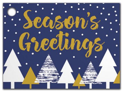 Season's Greetings Gift Tags, 3 3/4 x 2 3/4""