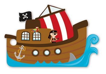 Pirate Ship Intricut Gift Tags, 3 3/4 x 2 3/4