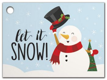 Let it Snowman Gift Tags, 3 3/4 x 2 3/4