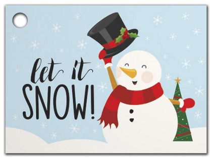 Let it Snowman Gift Tags, 3 3/4 x 2 3/4""