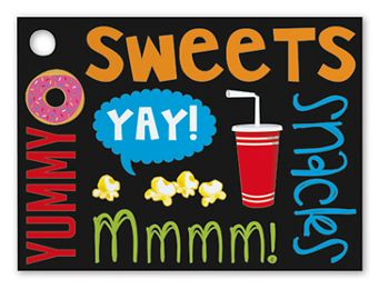 Snack Attack Gift Cards, 3 3/4 x 2 3/4