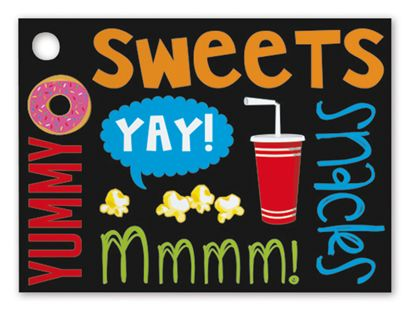 Snack Attack Gift Tags, 3 3/4 x 2 3/4""