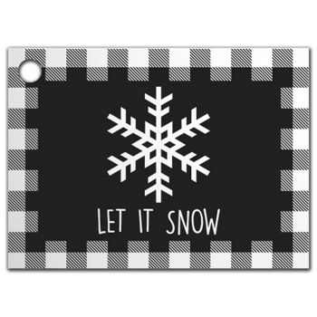 Let it Snow Plaid Gift Tags, 3 3/4 x 2 3/4