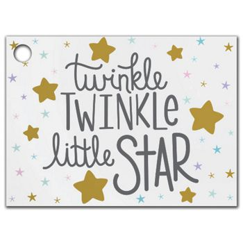 Twinkle Little Star Gift Tags, 3 3/4 x 2 3/4""