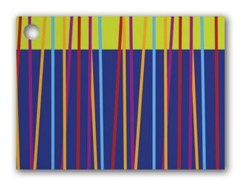 Festive Stripes Gift Cards, 3 3/4 x 2 3/4