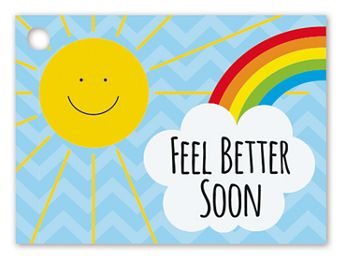 Feel Better Sunshine Gift Cards, 3 3/4 x 2 3/4