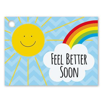 Feel Better Sunshine Gift Tags, 3 3/4 x 2 3/4
