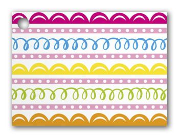 Sweet Swirls Gift Tags, 3 3/4 x 2 3/4