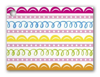 "Sweet Swirls Gift Tags, 3 3/4 x 2 3/4"""