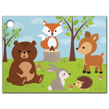 Woodland Animals Gift Tags, 3 3/4 x 2 3/4