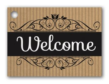 Welcome Gift Tags, 3 3/4 x 2 3/4