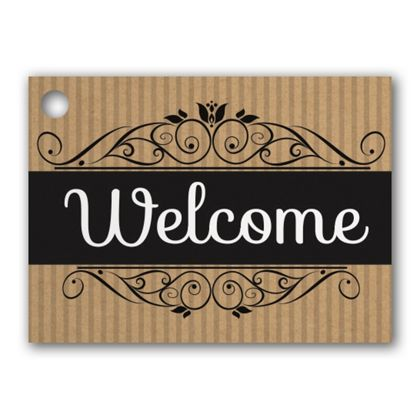 """Welcome Gift Tags, 3 3/4 x 2 3/4"""""""