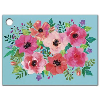 Watercolor Flowers Gift Tags, 3 3/4 x 2 3/4