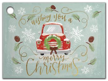 Christmas Wishes Gift Tags, 3 3/4 x 2 3/4