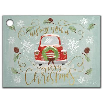 Christmas Wishes Gift Tags, 3 3/4 x 2 3/4""