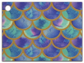Watercolor Mermaid Gift Tags, 3 3/4 x 2 3/4