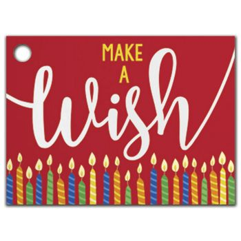 Make a Wish Candles Gift Tags, 3 3/4 x 2 3/4
