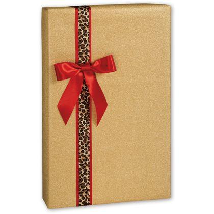 "Gold Glitter Gift Wrap, 24"" x 417'"