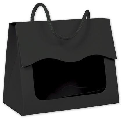 "Black Gourmet Gift Totes, 5 1/8 x 2 5/8 x 4 1/4"""