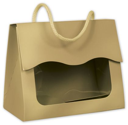 Gold Gourmet Gift Totes, 5 1/8 x 2 5/8 x 4 1/4""