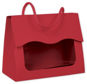 Red Gourmet Gift Totes, 5 1/8 x 2 5/8 x 4 1/4