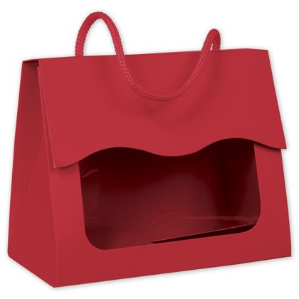 """Red Gourmet Gift Totes, 5 1/8 x 2 5/8 x 4 1/4"""""""
