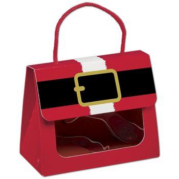 Santa's Belt Gourmet Gift Totes, 5 1/8 x 2 5/8 x 4 1/4
