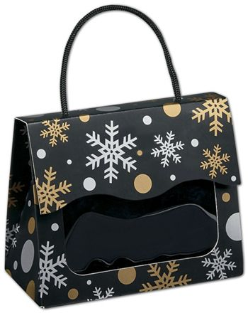 Christmas Elegance Gourmet Gift Totes, 5 1/8x2 5/8x4 1/4