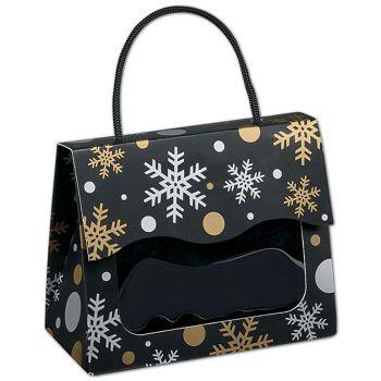 Christmas Elegance Gourmet Gift Totes, 5 1/8x2 5/8x4 1/4