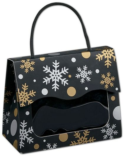 Christmas Elegance Gourmet Gift Totes, 5 1/8x2 5/8x4 1/4""