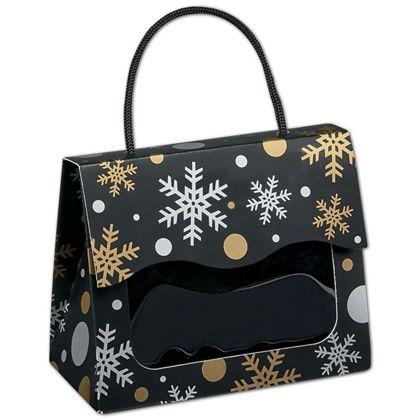 "Christmas Elegance Gourmet Gift Totes, 5 1/8x2 5/8x4 1/4"""