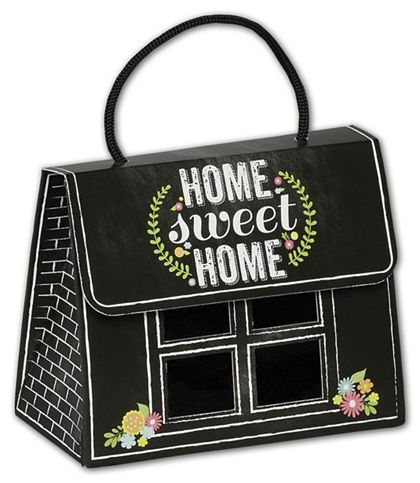 Chalkboard Home Gourmet Gift Totes, 5 1/8 x 2 5/8 x 4 1/4""