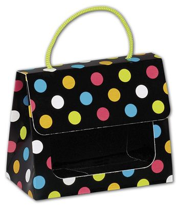 Dazzling Dots Gourmet Gift Totes, 5 1/8 x 2 5/8 x 4 1/4