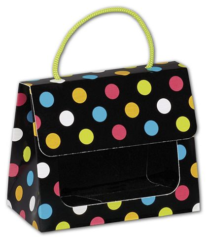 Dazzling Dots Gourmet Gift Totes, 5 1/8 x 2 5/8 x 4 1/4""