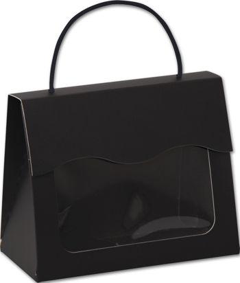 Black Gourmet Gift Totes, 6 1/2 x 3 1/4 x 5 5/16