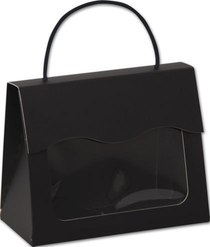 "Black Gourmet Gift Totes, 6 1/2 x 3 1/4 x 5 5/16"""