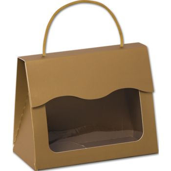 Gold Gourmet Gift Totes, 6 1/2 x 3 1/4 x 5 5/16