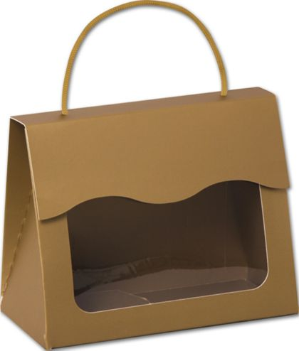 Gold Gourmet Gift Totes, 6 1/2 x 3 1/4 x 5 5/16""