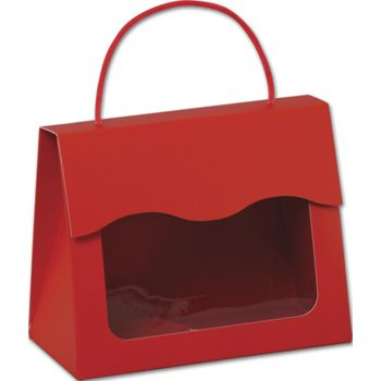 Red Gourmet Gift Totes, 6 1/2 x 3 1/4 x 5 5/16